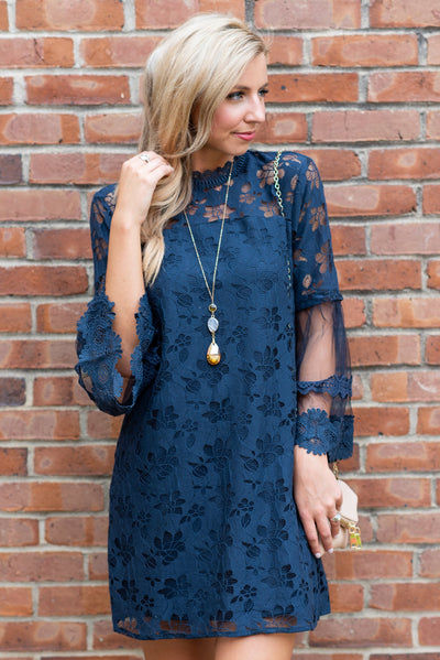 Focused On You Dress, Navy