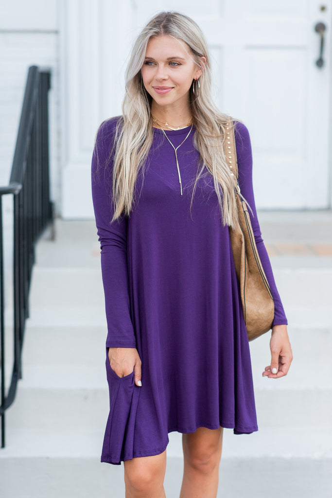 Piece Of My Heart Dress, Eggplant
