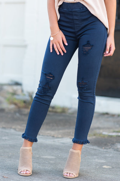 Living On Love Leggings, Navy