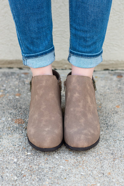 Never Be The Same Booties, Taupe