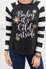 Baby It's Cold Outside Top, Black