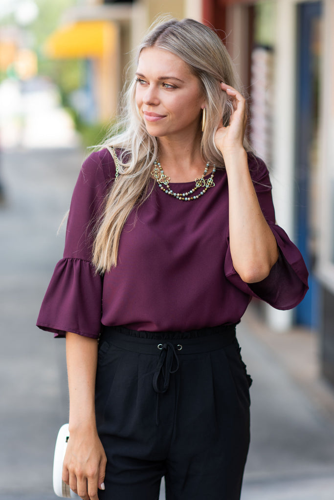 Coast To Coast Top, Burgundy