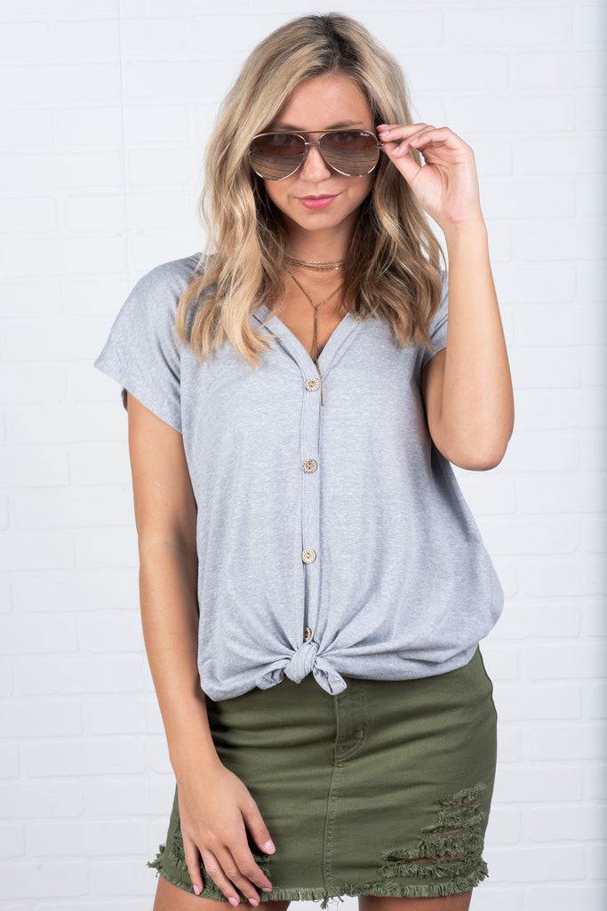 Bring The Best Top, Gray