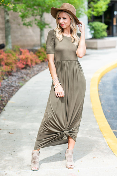 On The Lookout Maxi Dress, Olive