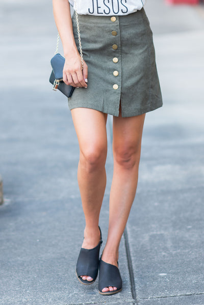 The Latest And Greatest Skirt, Olive