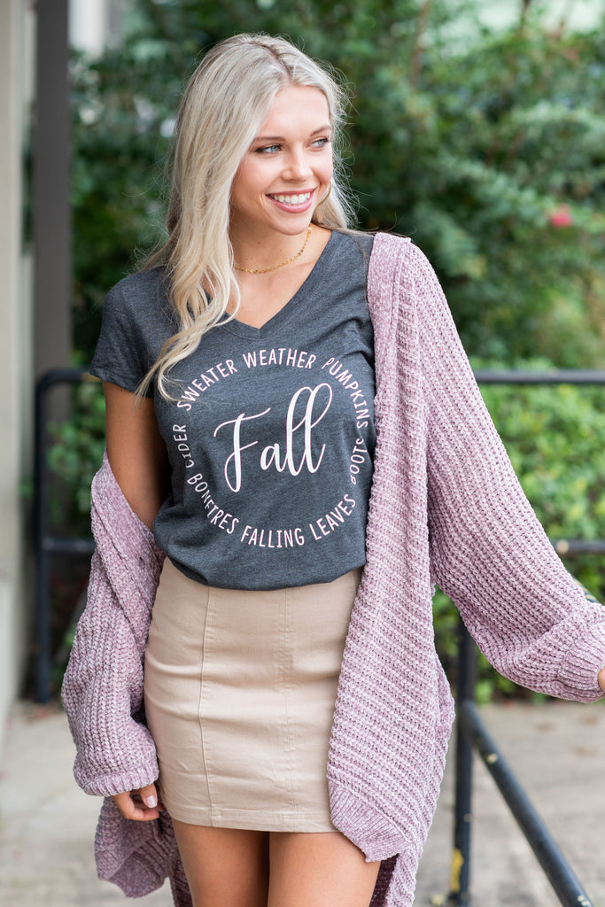 All Things Fall T-Shirt, Charcoal