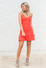 Simple Perfection Dress, Coral