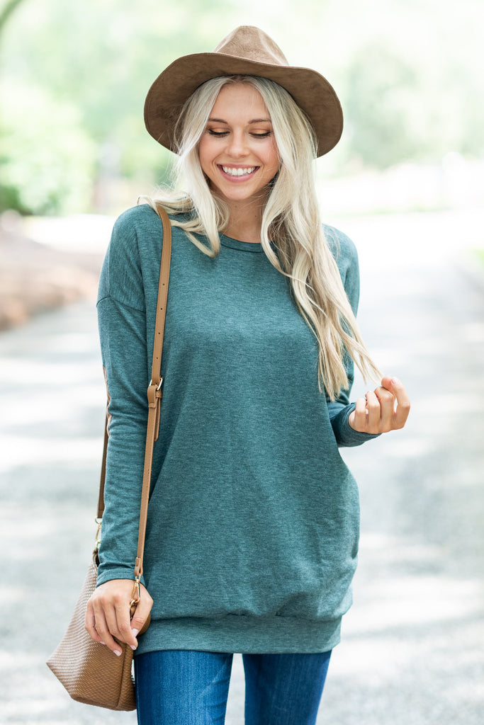 Smart Choices Tunic, Hunter Green