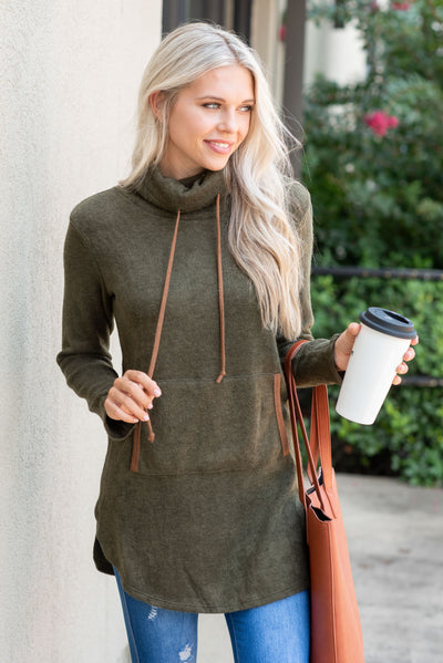 For The Love Of Lounging Tunic, Olive