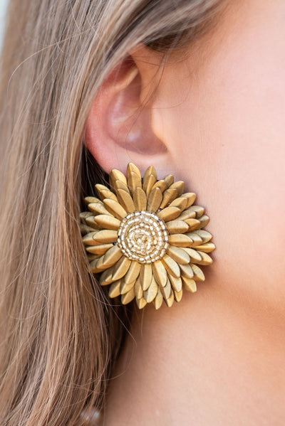 What A Wonderful Day Earrings, Gold