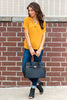 tops, casual tops, yellow, mustard, fall tops, fall clothing, winter clothing, short sleeve, solid, bright