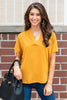 Divine Dreams Top, Mustard