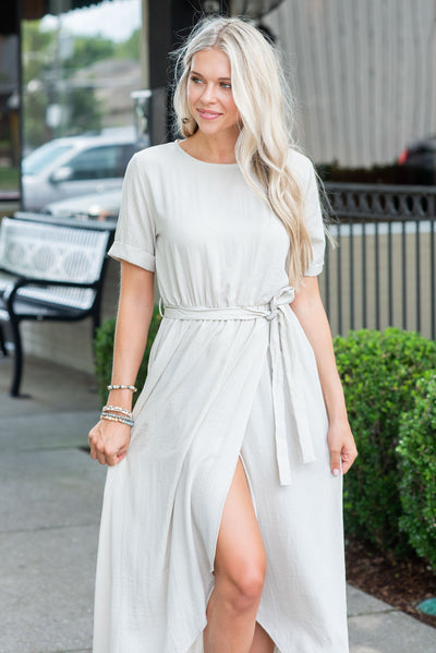 Chasing Beauty Maxi Dress, Taupe