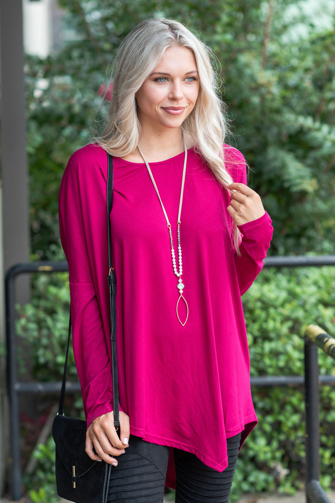 Born To Fly Top, Magenta