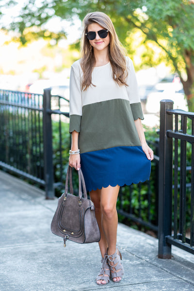 Born To Be Classy Dress, Olive
