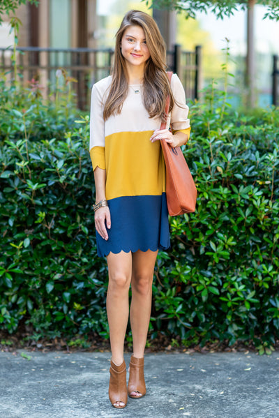 Born To Be Classy Dress, Mustard