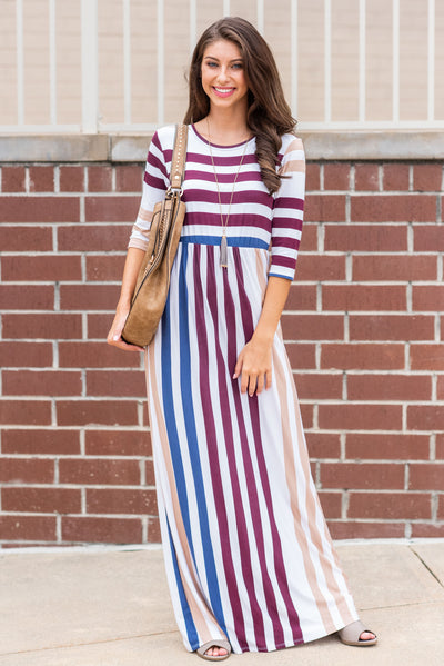 Madly in Love Maxi Dress, Burgundy