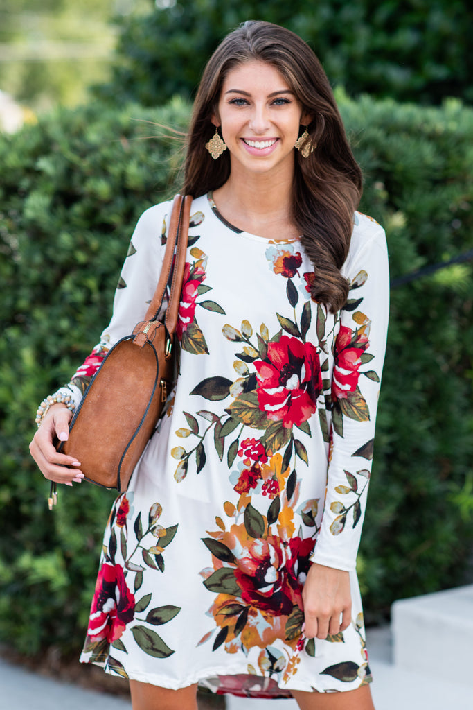 Back To Beauty Ivory Floral Dress