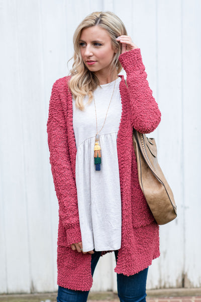 Came To Cuddle Cardigan, Dusty Rose