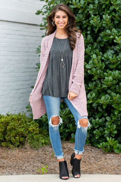 Came To Cuddle Cardigan, Mauve