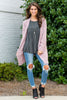 cardigan, casual, layers, top, outerwear, light layers, long sleeve, pockets, fall, winter, solid, mauve, pink