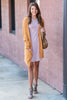 cardigan, casual top, casual, yellow, apricot, outerwear, jacket, layers, fall, winter, long sleeve, pocket, solid