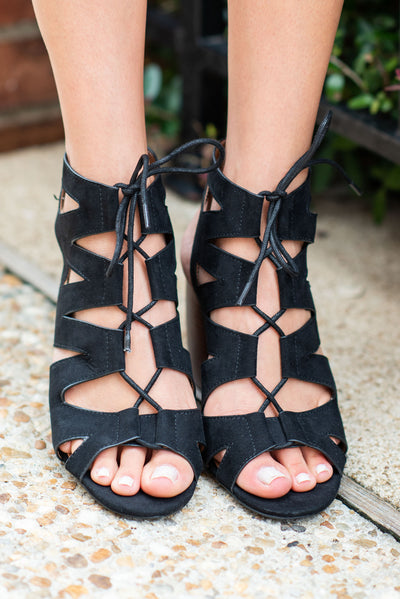 Make It Count Heeled Sandals, Black