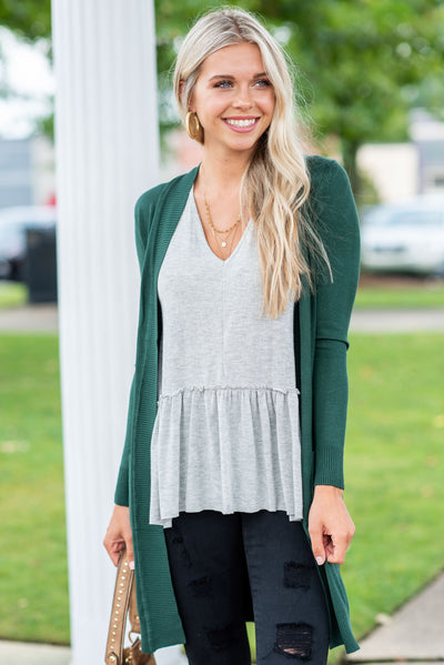 The Everyday Boyfriend Cardigan, Olive