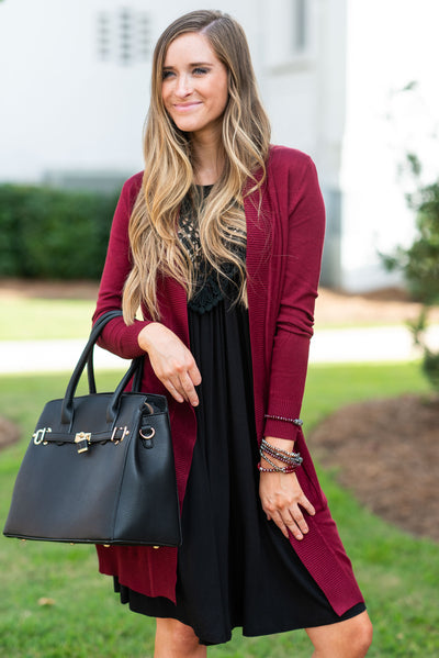 The Everyday Boyfriend Cardigan, Marsala