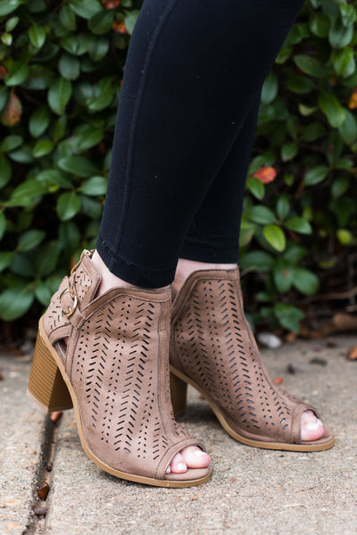 Love To Love You Booties, Taupe
