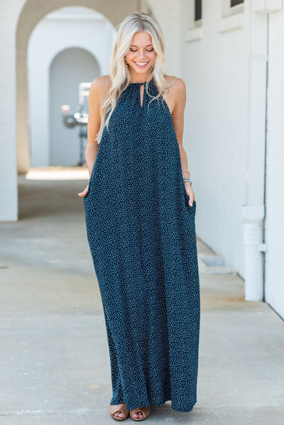 Feeling So Feminine Maxi Dress, Navy