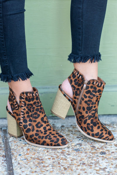 More Than Luck Booties, Leopard