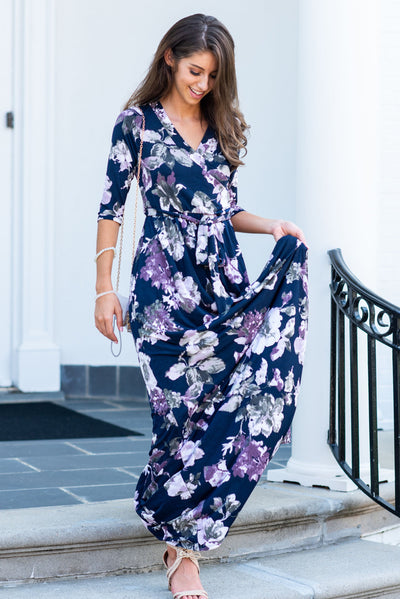 All Around This Town Maxi Dress, Purple