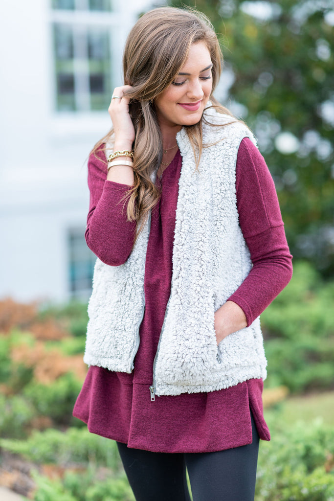 Soft And Sweet Vest, Gray
