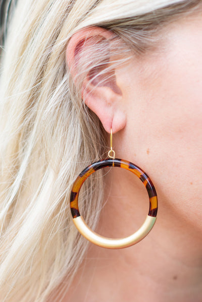 In The City Earrings, Tortoise