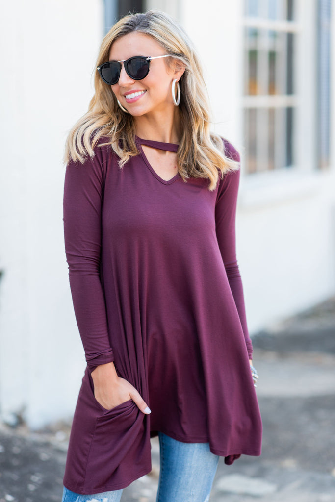 Town To Town Tunic, Plum