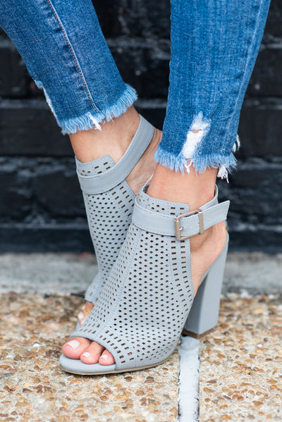 Compelled To Be Chic Heels, Gray