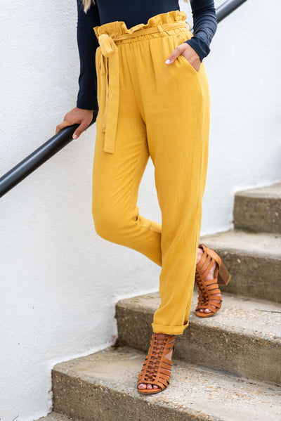 Office Romance Pants, Mustard