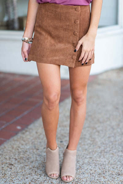 Pretty As A Picture Skirt, Brown