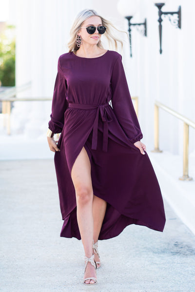 Love Of The Chase Maxi Dress, Merlot