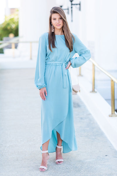 Love Of The Chase Maxi Dress, Sea Foam