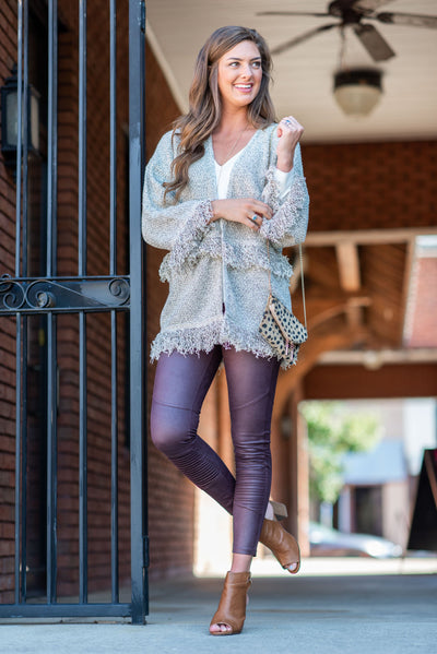 Mud Pie: The Finch Leather Leggings, Ox Blood