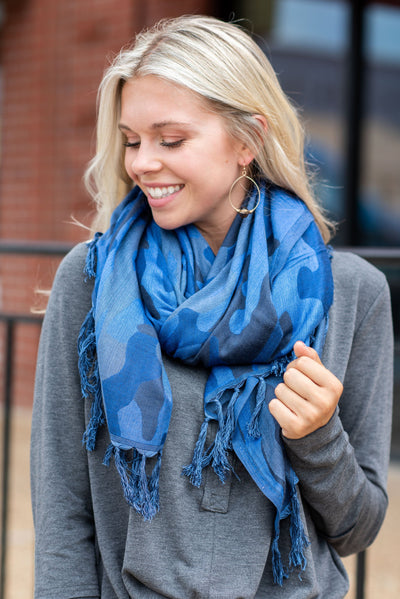Mud Pie: Let's Hide Out Scarf, Navy