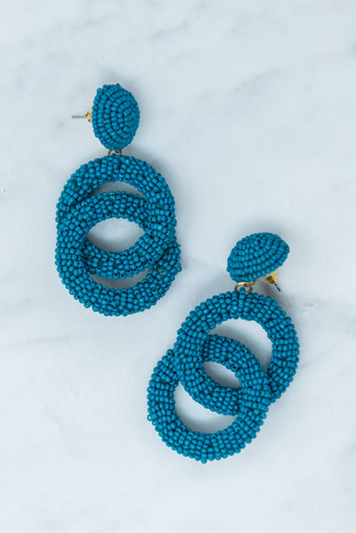 Stuck On You Earrings, Teal