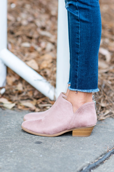 Successful Adventures Booties, Dark Blush