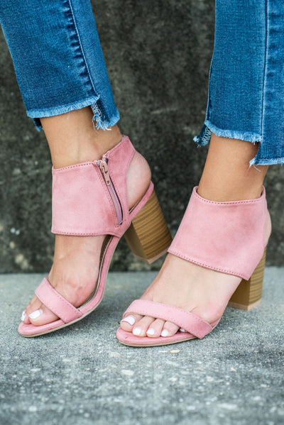 Bold Business Heels, Blush