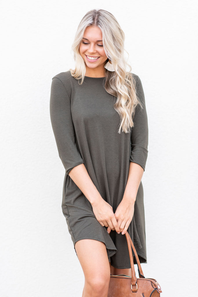 The Perfect Match Dress, Dark Olive