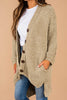 cardigan, cropped sleeves, chenille fabric, oversized fit, button front closure, pockets, light olive, oversized cardigan