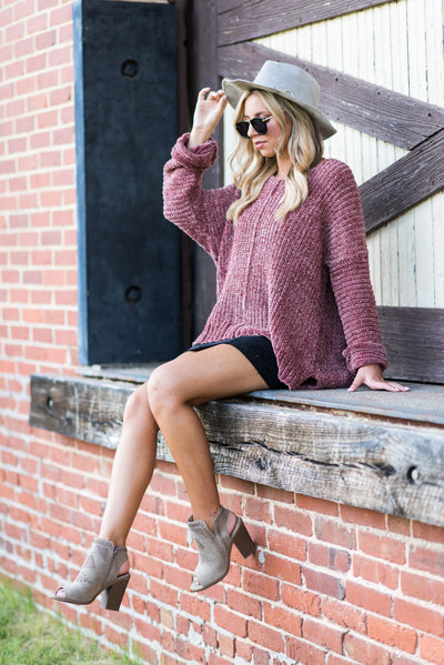 Created Cute Sweater, Brick