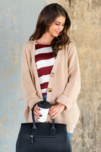 Comforting Creations Cardigan, Blush